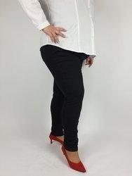 Klasyczne spodnie czarny jeans ze streczem 5 kieszeni PLUS SIZE