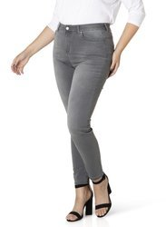 Klasyczne spodnie jeans szare XXL, wąska nogawka JOYA