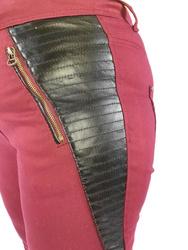 Spodnie ze skórką