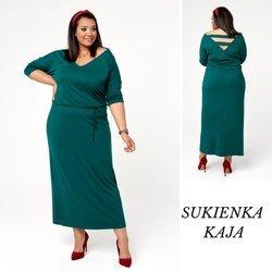Zielona sukienka Kaja z dekoltem z tyłu i z przodu