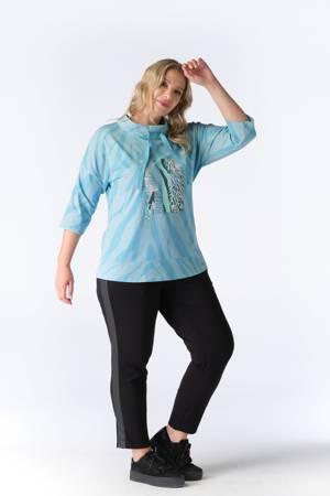 Błękitna bluzka No Secret z niskim golfem