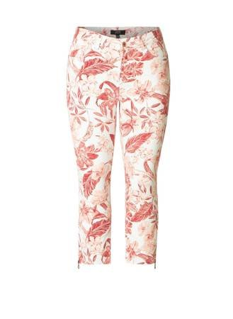 Klasyczne spodnie bawełna XXL w kwiaty