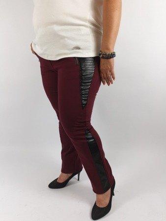 Spodnie ze wstawkami ze skórki